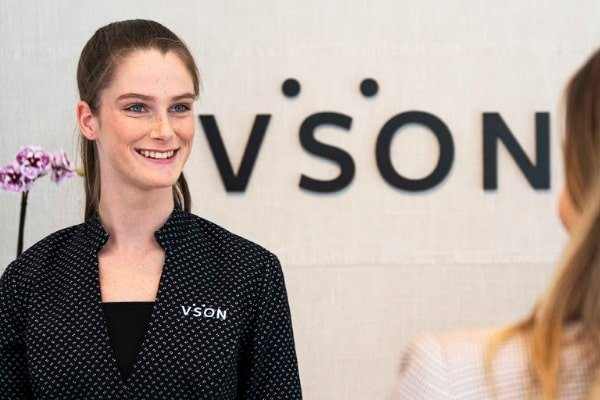 Smiling receptionist at the clinic, Laser Eye Surgery Fortitude Valley