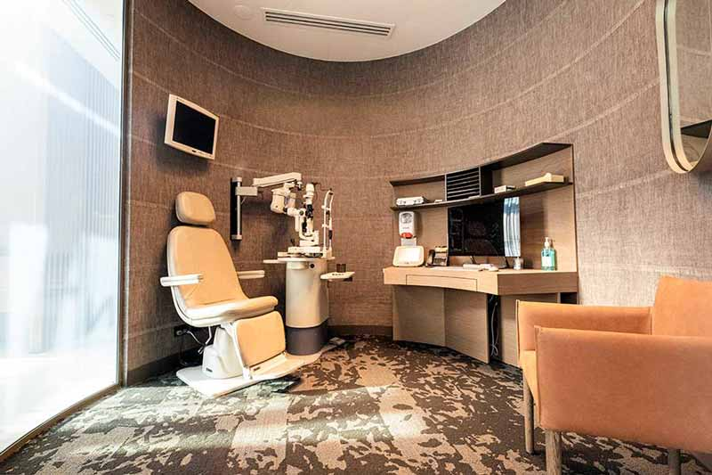 VSON laser eye surgery clinic consultation room with brown interiors